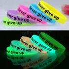 Silicone Bracelet Lumineux FLUORESCENT FLUO Phosphorescent Collier Wristband