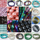 Strand 4mm-10mm Colorful Magnetic Hematite Round Square Twist Loose Beads DIY FB