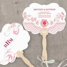 hand fans personalised - 24 Personalized French Whimsy Floral Hand Fans Wedding Favors