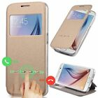 Slim Flip Leather Window View Smart Case Cover For Samsung Galaxy Various Phone