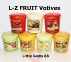 YANKEE CANDLE VOTIVE ** L - Z ** FRUIT SCENTS ** 15 HOUR CANDLE *YOU PICK