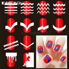 French Guide Tips Pochoir Sticker Autocollant Ongle Vernis Polish Liner Nail Art