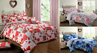 Shabby Chic Floral New Patchwork Duvet Cover Bedding Set Pink Blue Red All Sizes