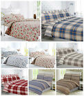 Brushed Cotton Flannelette Bedding Duvet Cover Fitted, Flat, Warm Quilt Covers