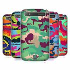 HEAD CASE DESIGNS COLOURFUL CAMOUFLAGE HARD BACK CASE FOR BLACKBERRY PHONES