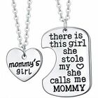 2016 1 Pair Handmade Silver Heart Mom Grandma Necklace Pendant Mother's Gifts