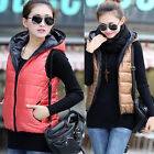 Fashion Winter Lady Cotton Down Vest Waistcoat Vest And Long Sections Hooded Hot