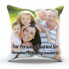 Personalised Family Pillow Cushion Pad Cover Case Create Your Own Custom