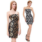 Formal Cocktail Strapless Mini Korean Sequined Ball Evening Prom Party Dress New