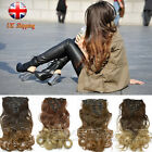 UK 7Ps 16 Clips Full Head Clip in Hair Extensions Ombre Two Tone Wavy Curly Hair