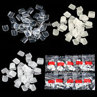 500pcs Acrylic French False Toe Nail Art Tips Set - White Clear Natural Choose