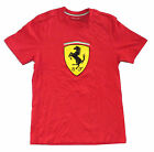 "Ferrari Scuderia SF ""Flocked Shield"" Red T-Shirt Brand New Official Licensed"