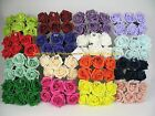 60  x 6cm Colourfast Artificial Foam Rose Wedding/Craft Flowers mix colours