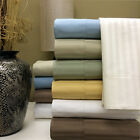 1000 Thread Count 100% Egyptian Cotton Stripe Bed Sheet Set 15 COLORS / 6 SIZES image