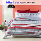 3 Pce Minden Silver Grey Geometry Quilt Cover Set by Phase 2 - DOUBLE QUEEN KING