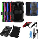 For ZTE Warp 7 /ZTE Grand X 3 LTE Phone Case Holster Cover Headset Earbuds W/Mic