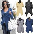 Women Cowl Neck Cardigan Sweater Knitted Coat Jumper Pullover Sweatercoat TXST