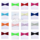 100QTY Stretch Chair Cover Bands Color With Buckle Slider Replace Chair Sash Bow