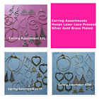 Earring Assortment Mixed Lots SP GP Brass Plated Hoops Lazer Lace Earring Supply