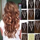 Ladies Hair Extensions Brown Clip in on Full Head Synthetic Remy Long Like Human