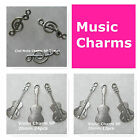 Music Charms Violin Charm Clef Note Charm Silver Plated Jewelry Charms