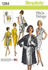 Simplicity Ladies Sewing Pattern 1284 1960's Vintage Style Dress & Jacket...