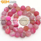 "Geode Stone Onyx  Agate Stone Beads For Jewelry Making 15"" Matte"