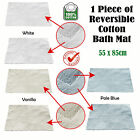 3 Color Choice - 1 Piece of Reversible Cotton Floor Bath Mat 55 x 85cm