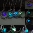 Fashion Womens Charms Moon Glow In The Dark Pendant Necklace Chain Jewelry 2016