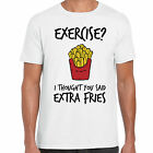 grabmybits - Exercise I Thought You Said Extra Fries Funny Adult T Shirt - Gym