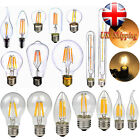 Dimmable 220V LED E27 E14 2/4/6/8W Edison Filament Bulb Candle Light Spot Lamp