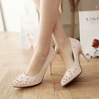 Womens fashion rivets pumps pointed toe high heel stiletto party dress shoes new