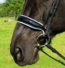FSS PATENT WHITE Padded CUT-AWAY Shaped Crank Cavesson TWIN BUCKLE Noseband NEW