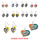 NFL Football Swirl Heart Earrings Pick Your Team $7.49 USD on eBay