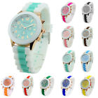 Classic Stylish Silicon Jelly Strap Unisex Women Lady Girls Wrist Watch Colorful