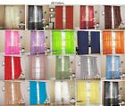 "2 Piece fully stitched Sheer Voile Window Curtain Panel drapes- 60""x84"""