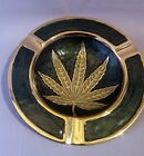 Marijuana Weed Ganja Leaf Design Metal Enamel Stunning Quality Gift  Ashtray