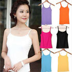 Women's Modal Stretch Spaghetti Strap Vest Vests Casual Ladies Undershirt uf