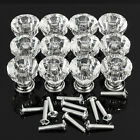 10Pcs Diamond Shape Crystal Cabinet Knob Cupboard Drawer Pull Handle 25mm 30mm S