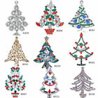 Beautiful Rhinestone Crystal xmas Tree Pin Party Holiday Wedding Gift Brooch