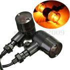 2x Universal 12V Motorcycle Turn Signal Indicator Amber Light Smoke Lens E-mark