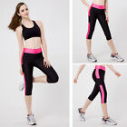 Sexy Womens Exercise Running Yoga Sports Pant Fitness Gym Stretch Cropped Pants