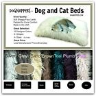 DogNappers Plush Faux Fur Dog Bed - Cat Mat - Padded Shag Pet Pad