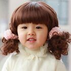 2 Type Baby Kids Daily Costume Full Wig Short Wavy Curly Lovely Wig Hair Age 1~4