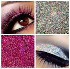 Glitter Eyes - Duo Silver & Pink Holographic Eye Shadow Fixing gel Long Lasting