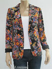Sportsgirl Ladies Fitted Long Sleeve Jacket Blazer sizes 8 XSmall Black Floral