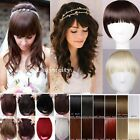 New Fashion Women Clip in Front Bang Fringe Straight Humans Hair Extensions Fu5