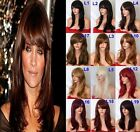 "19"" Natural Straight Wig Stylish Full Head Party Hair Women Wig Heat Resistant"
