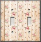 Shabby Chic Home Decor - Light Switch Plate Cover - Roses On Wood Image 02
