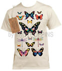 1-INSECTA BUTTERFLY DRAGONFLY BUG INSECT SAFARI WEAR GRAPHIC PRINTED TEE-SHIRT